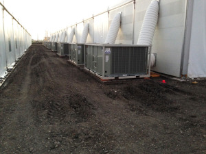 HVAC temporary fabric building
