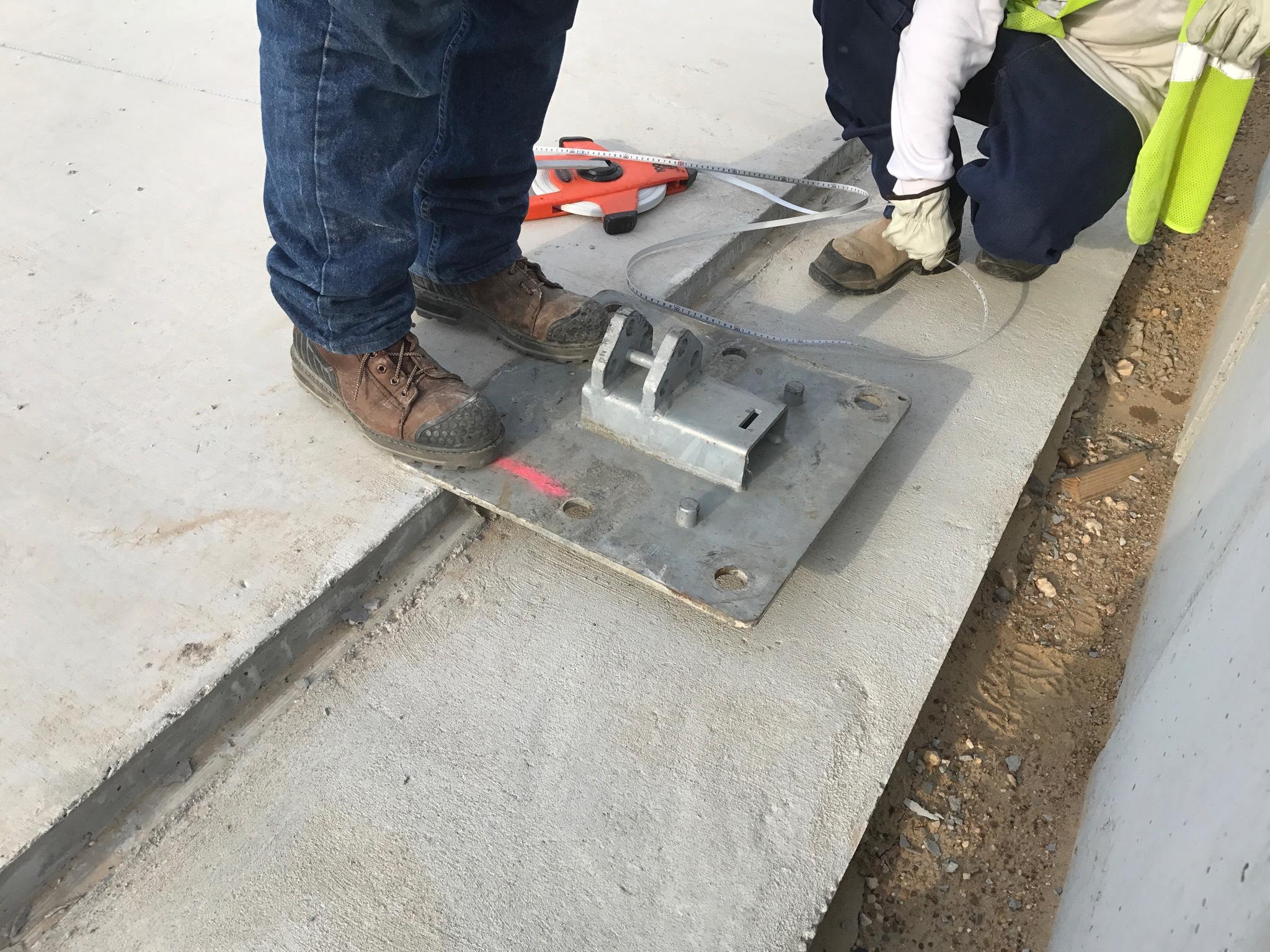 Concrete foundation with brick edge