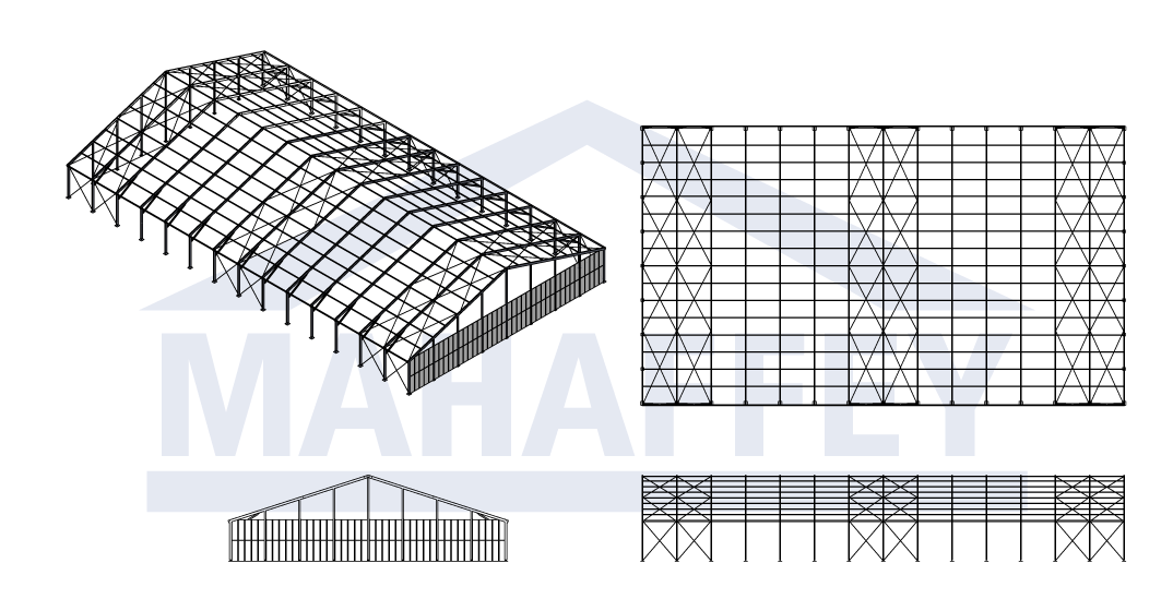 outdoor fabric structure drawing