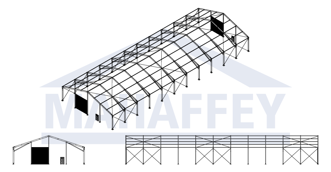 CAD Drawing for Mahaffey's MegaStructure™ Temporary Structure