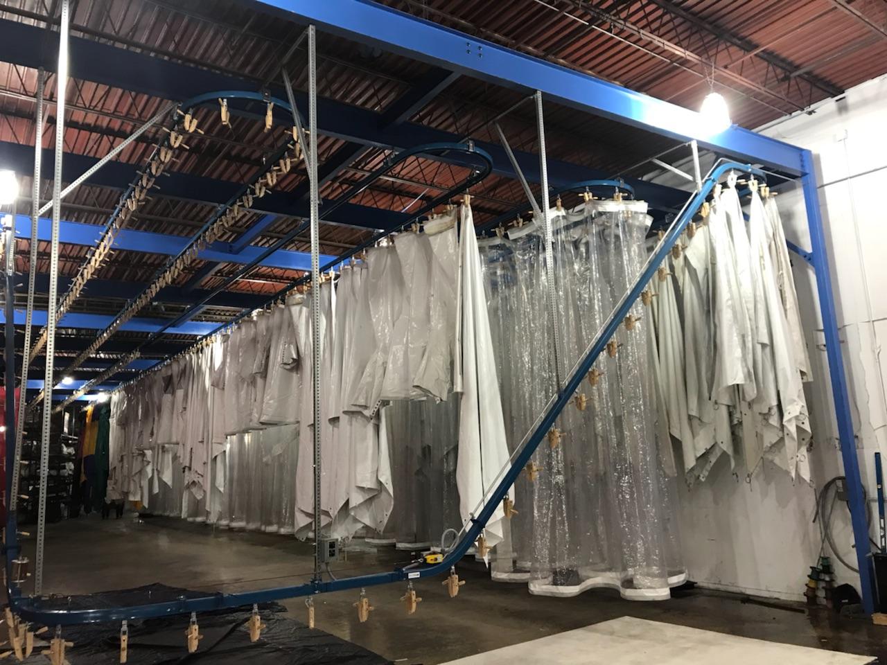 Mahaffey's fabric drying system