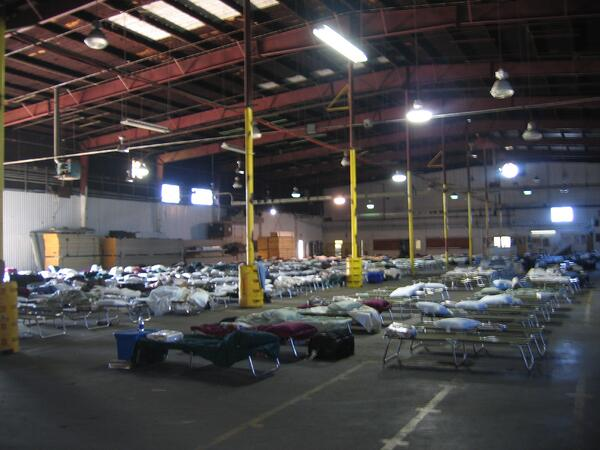 A Post Katrina Account of Building and Supporting Disaster Relief Base Camps