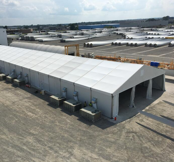 Fabric Structure Warehouse for Wind Power Supplier Manufacturing