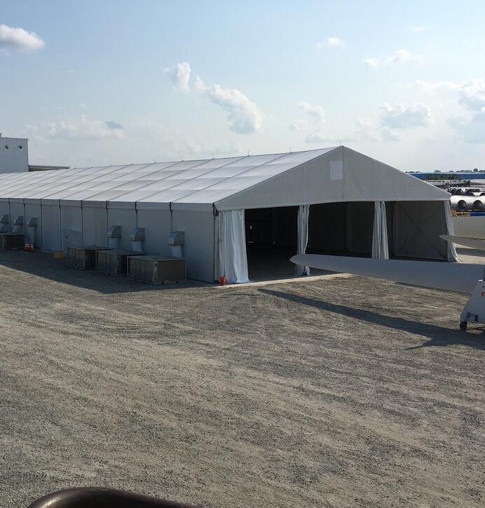 Fabric Structure Warehouse for Wind Power Supplier Manufacturing with HVAC