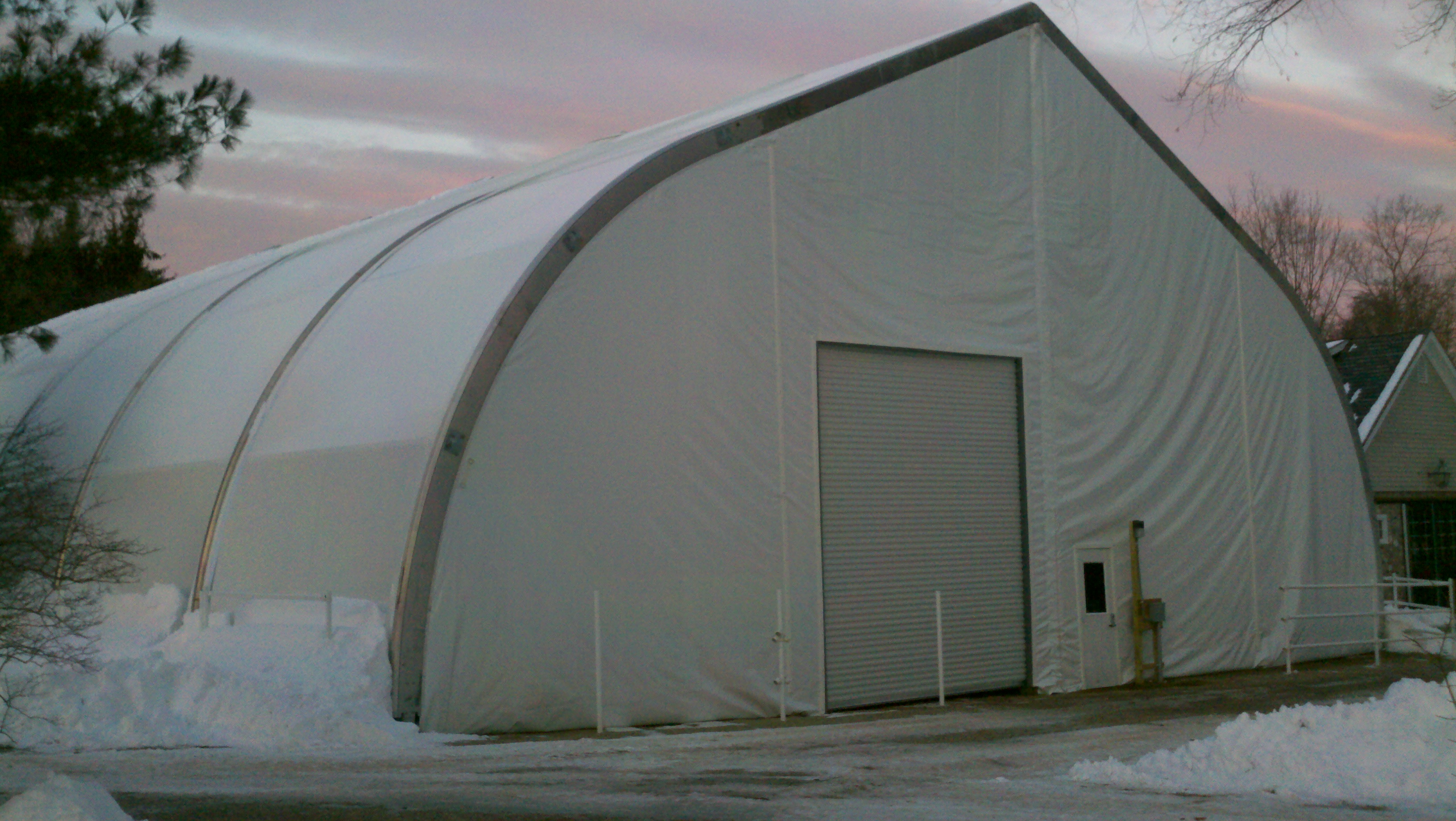 Mahaffey Tensions Series (MTS™) Structure is a Great Solution to Extreme Weather, such as snow.