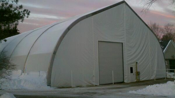 Mahaffey MTS™ Engineered to be the Ideal Temporary Warehouse in Harsh Winter Climates
