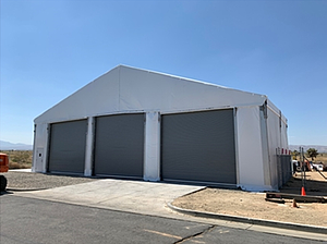 Temp structure with 3 bay doors