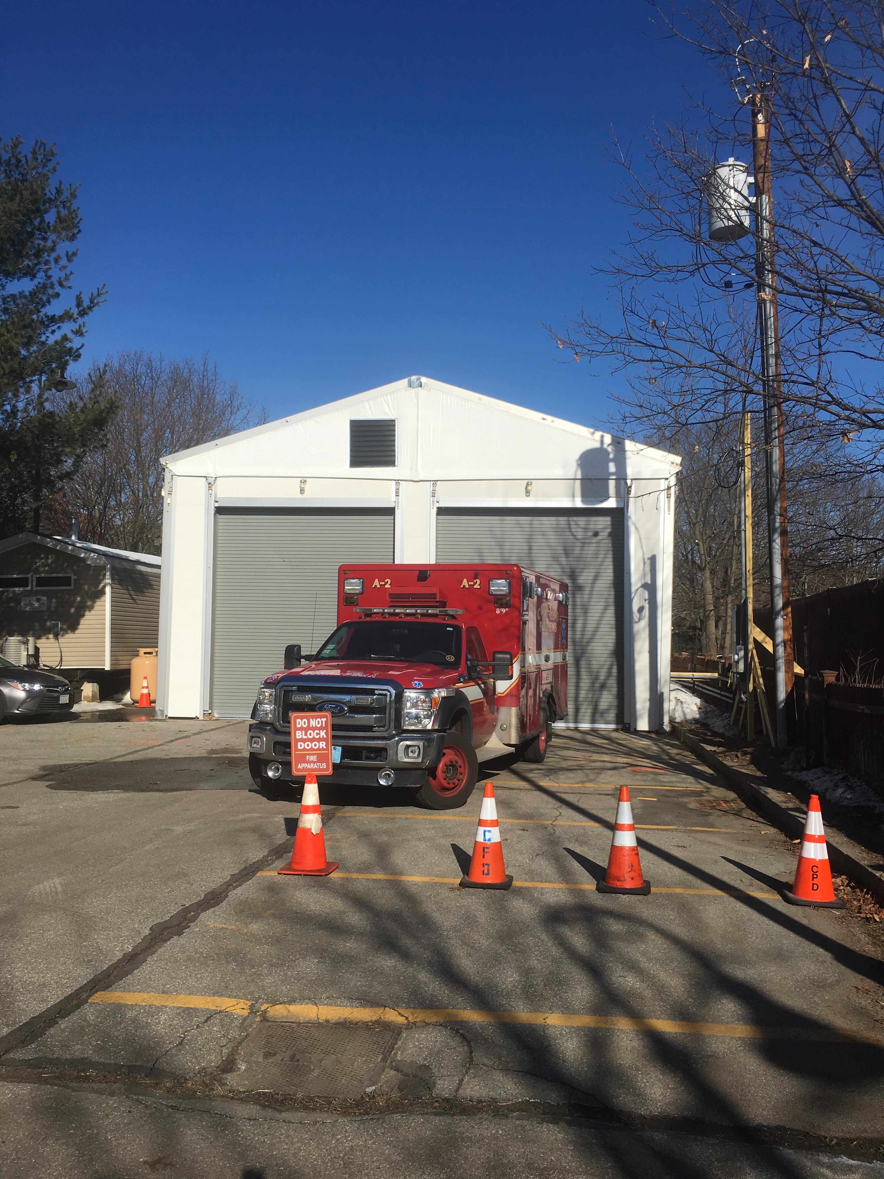 Temporary firehouse