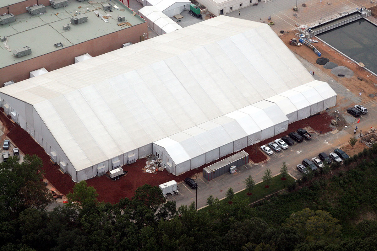 Event Structure Aerial Shot