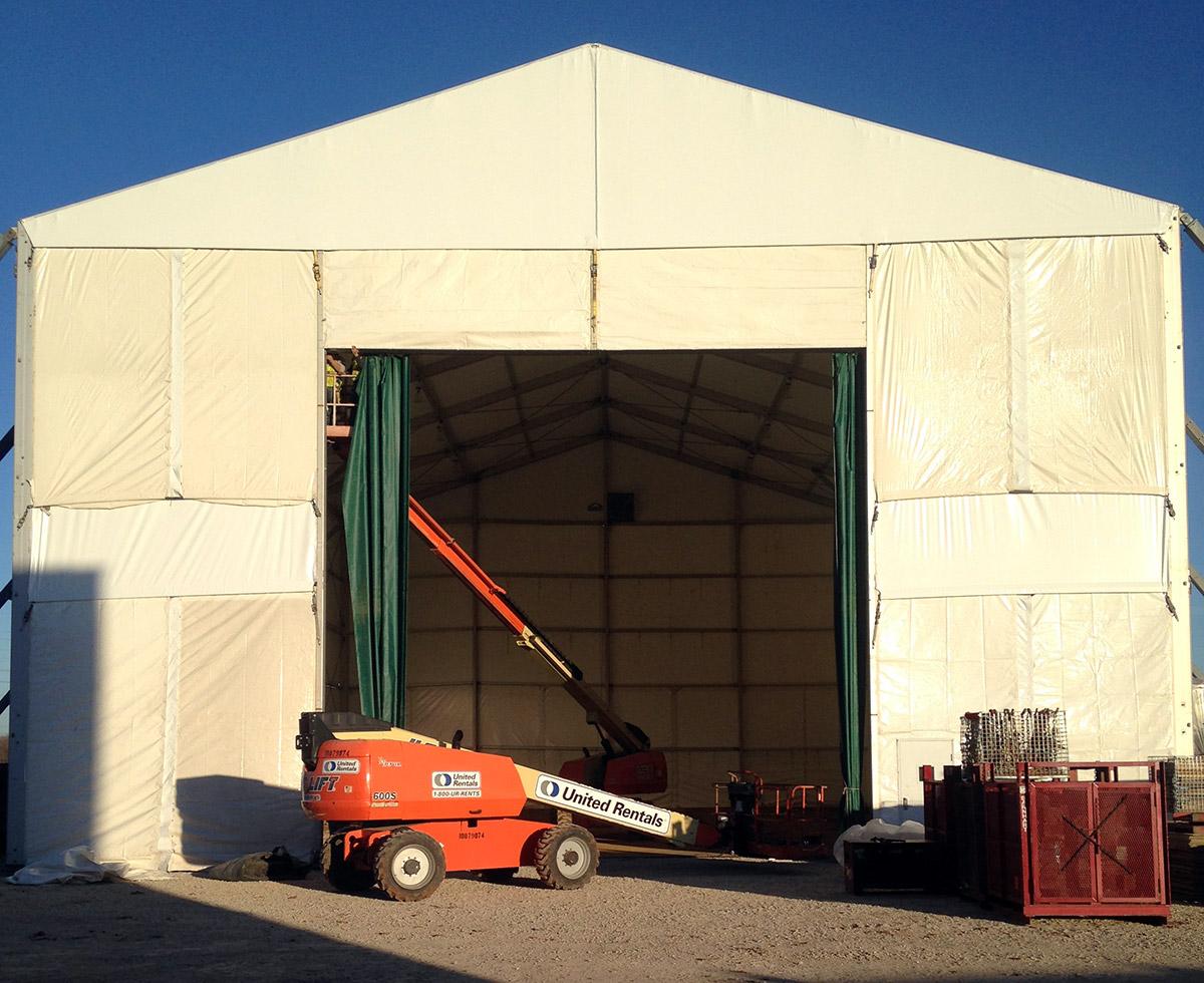 Custom. Mahaffeyu0027s industrial tent ... & Structures