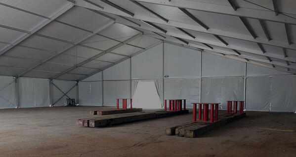 temporary engineered structure tent