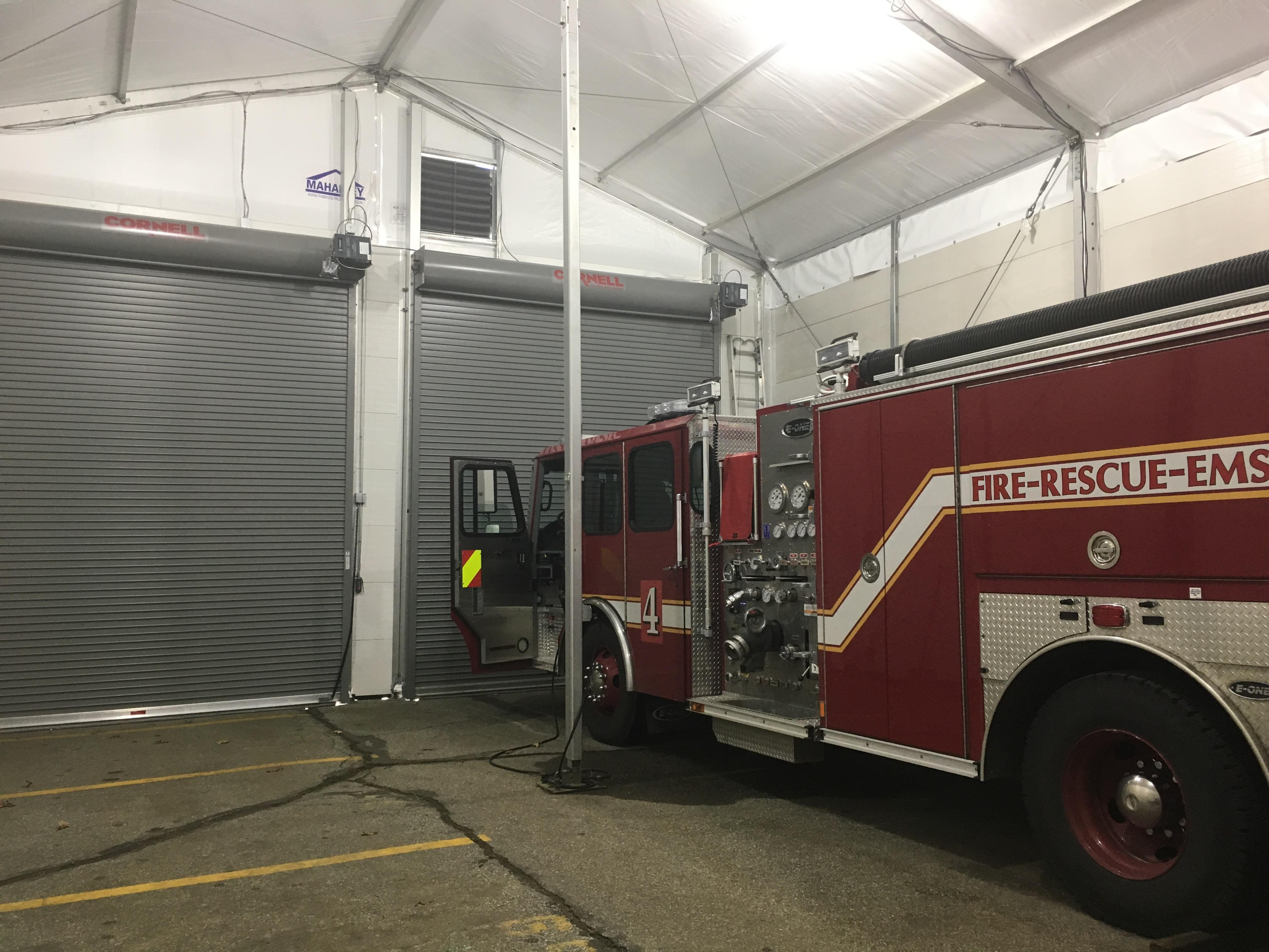 Temporary Fabric Structure for Firehouse